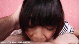 Uncensored Japanese Schoolgirl Miko Kurozuki Gives Teacher Messy Deepthroat and Facefuck